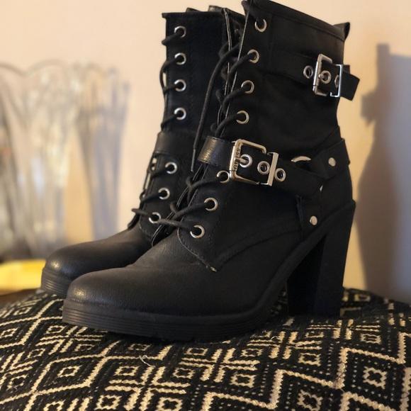 84cff407eee High heel combat boots